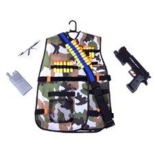 Karinė liemenė su diržu pistoletui ir priedais JK PTP0318