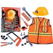 Zestaw małego budowlańca strój + narzędzia  PTP03198