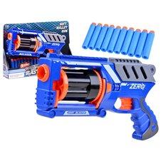 Pistolet BLASTER naboje piankowe 10szt broń PTP03286