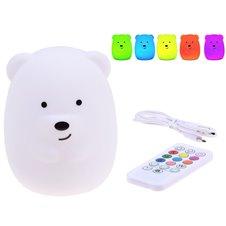 LED naktinė lempa Teddy Bear + nuotolinio valdymo pultasPTP03294