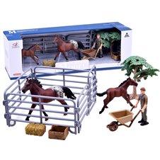 Žirgų ir kumeliukų augintojų dažytų figūrėlių rinkinys PTP02605-C