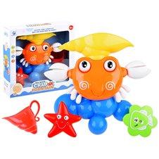 Vonios žaislas spalvotas krabas su fontanu PTP03698