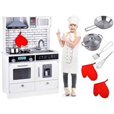 Medinė didelė virtuvė su apšvietimais PTP03717
