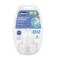 Žindukas Chicco Perfect 5 Physio silikoninis lėtas 0+ 2vnt. 122196