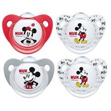 Čiulptukai NUK Mickey Mouse 6-18mėn 2vnt 736205