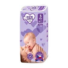 Vienkartinės sauskelnės New Love Premium comfort 3 MIDI 4-9 kg 48vnt