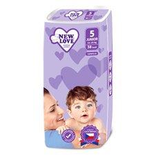 Vienkartinės sauskelnės New Love Premium comfort 5 JUNIOR 11-25 kg 38vnt