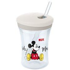 Puodelis NUK su šiaudeliu Mickey Mouse 230ml 12mėn+ 255457
