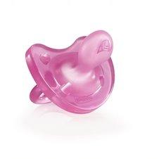 Minkštas silikoninis čiulptukas Chicco Physio 0-6M rožinis