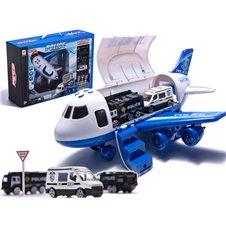 Lėktuvas transporteris su policijos automobiliais KX