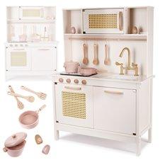 Retro medinė virtuvė su aksesuarais KX BOHO