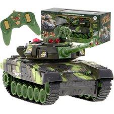 Nuotoliniu būdu valdomas tankas KX War Tank 9993 Žalias