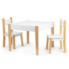 Eko Žaislas Stół stolik z dwoma krzesłami zestaw mebli dla dzieci