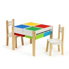 Eko Žaislas Drewniane meble dla dzieci zestaw stół +2 krzesła