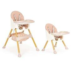 Maitinimo kėdutė vaikams Eco Toys 2in1 Rožinė