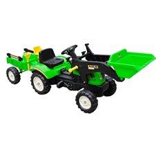 Minamas traktorius ST su priekaba ir kaušu TR3005 Green