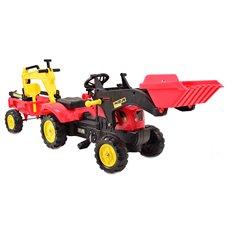 Minamas traktorius ST su priekaba ir kaušu TR3009 Red