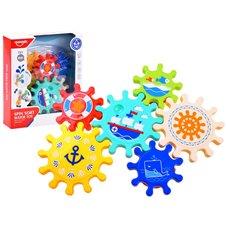 Zabawka do wody kolorowe Trybiki zębatka PTP03407