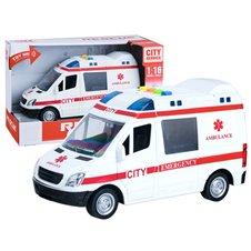 Auto KARETKA ambulans dźwięk światło syrena PTP03398