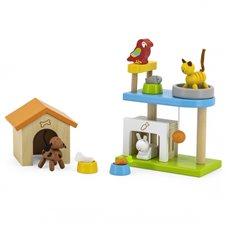 Medinis naminių gyvūnų rinkinys VIGA su žaidimų aikštele Pets