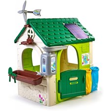 Sodo namelis FEBER su imitacine saulės baterija Eco