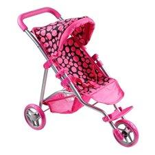 Vežimėlis lėlėms PLAYTO Olivia 16827 Pink/Black