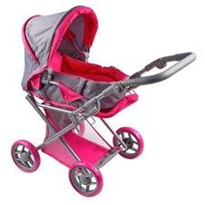 Daugiafunkcinis vežimėlis lėlėms PLAYTO Elsa 36466 Pink/Grey