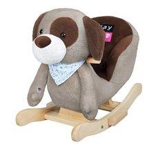 Minkšto žaislo sūpuoklės PLAYTO Doggy 33246 Grey/Brown