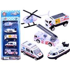 Automobilių rinkinys JOK Greitoji pagalba, Policija, Kariniai automobiliai PTP02445