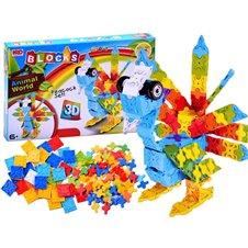 Spalvoti blokai JOK Animal World 3D 227vnt PTP02519
