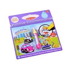 Vandens spalvinimo knyga JOK su vandens rašikliu Vehicle PTP02677