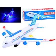 Pasażerski Samolot zabawka światła dźwięk PTP03327