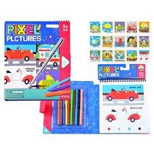 Edukacinė spalvinimo knygelė JOK Pixel Cars PTP03373