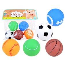 Guminių kamuoliukų rinkinys JOK su garsu  Baby Toys 5vnt PTP03511