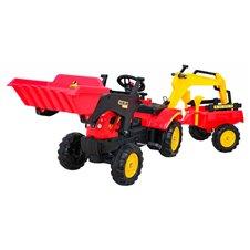 Traktorius/Ekskavatorius RMZ su priekaba Gokart