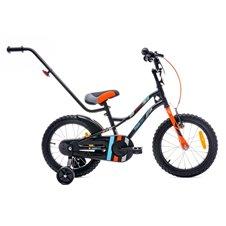 Dviratis berniukui SAULĖS VAIKAS su stumikliu 16 Tiger Bike Turkis Juoda Oranžinė