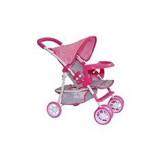 Lėlių vežimėlis M&M Kate Prestige Pink