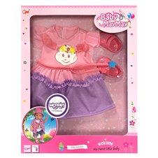 Suknelė lėlėi WOOPIE su batukais 43-46cm Baby MayMay