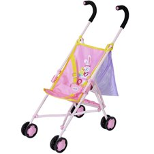 Lėlės vežimėlis BABY BORN su priedų krepšiu Rožinis