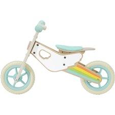 Medinis balansinis dviratis CLASSIC WORLD Rainbow