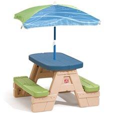 Sodo stalas STEP2 su skėčiu Picnic