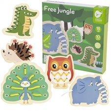 Medinis nėrimo rinkinys CLASSIC WORLD Free Jungle 10vnt