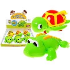 Linksmas vonios žaislas JK Crocodile And Little Turtle PTP00592