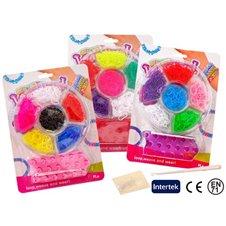 Apyrankių pynimo rinkinys JK Colorful Loom Bands 600vnt PTP00989