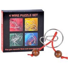 Metalinis galvosūkis JK 4 Wire Puzzle Set PTP01132