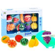 Vaisiai pjaustymui JK su lentele ir peiliu Cutting Fruit Set PTP01725 A