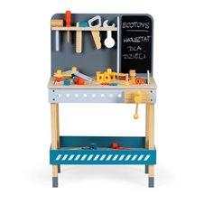 Medinė dirbtuvė Eko žaislai su įrankiais - 47 dalių