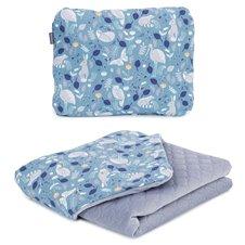 Pledukas su pagalvėle MAMO-TATO Premium Velvet PIK Pašiltintas Garniai nepalo žalia/pilka