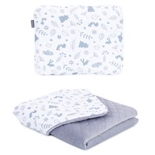 Pledukas su pagalvėle MAMO-TATO Velvet PIK Pašiltintas Miškas/pilka