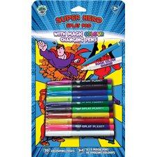 Magiška spalvinimo knygelė Splat Planet SUPER HEROJAI